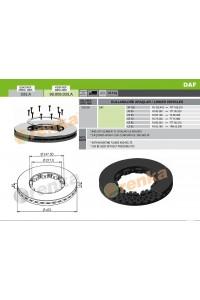 Тормозной диск DAF 98.009.033.A (1726138)