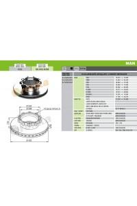 Гальмівний диск 98.002.032 (81508030021)