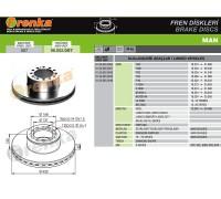 Тормозной диск 98.002.007 (81508030023)