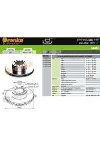 Гальмівний диск 98.002.007 (81508030023)