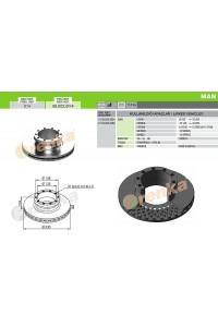 Гальмівний диск MAN 98.002.014 (81508030024)