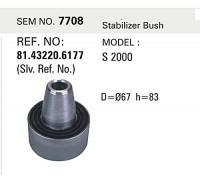 Сайлентблок тяги стабілізатора MAN SEM7708